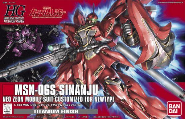 Bandai MSN-06S Sinanju Titanium Finish HGUC Gundam 5055735