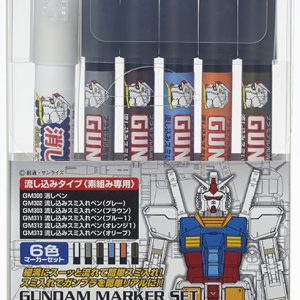 Mr Hobby Gundam Marker Pouring Inking Pen Set 6 Color Set GMS-122