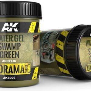 AK Interactive Water Gel Swamp Green 250ml AKI 8006