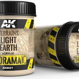 AK Interactive Terrains Light Earth 250ml AKI 8021