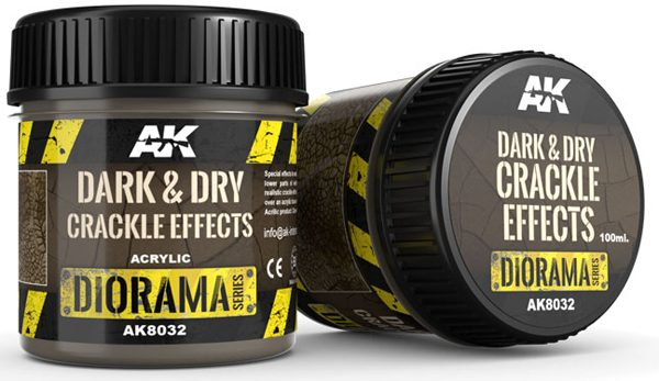 AK Interactive Dark and Dry Crackle Effects 100ml AKI 8032