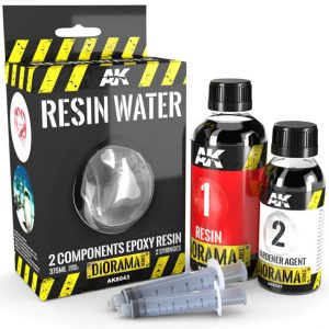 AK Interactive Resin Water 2 Component Epoxy Resin 375ml AKI 8043