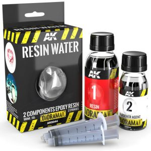 AK Interactive Resin Water 2 Component Epoxy Resin 180ml AKI 8044