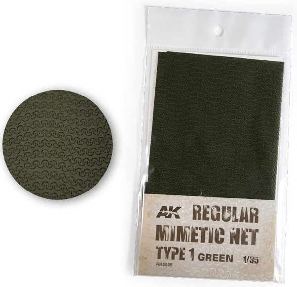AK Interactive Camouflage Mimetic Net Green TYPE 1 AKI 8059