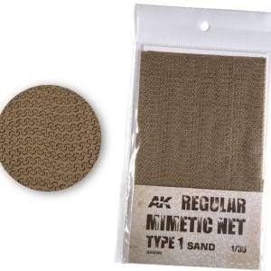 AK Interactive Camouflage Mimetic Net Sand TYPE 1 AKI 8060