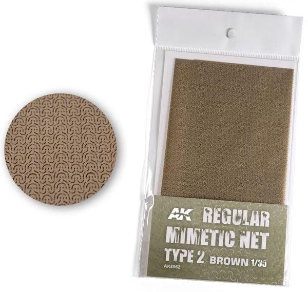 AK Interactive Camouflage Mimetic Net Brown TYPE 1 AKI 8062