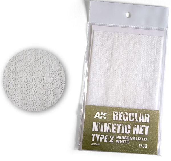 AK Interactive Camouflage Mimetic Net White TYPE 2 Personalized AKI 8063