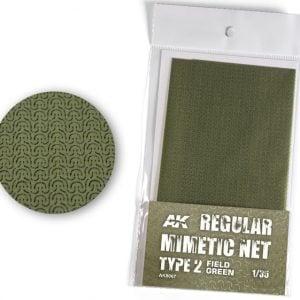 AK Interactive Camouflage Mimetic Net Field Green TYPE 2 AKI 8067