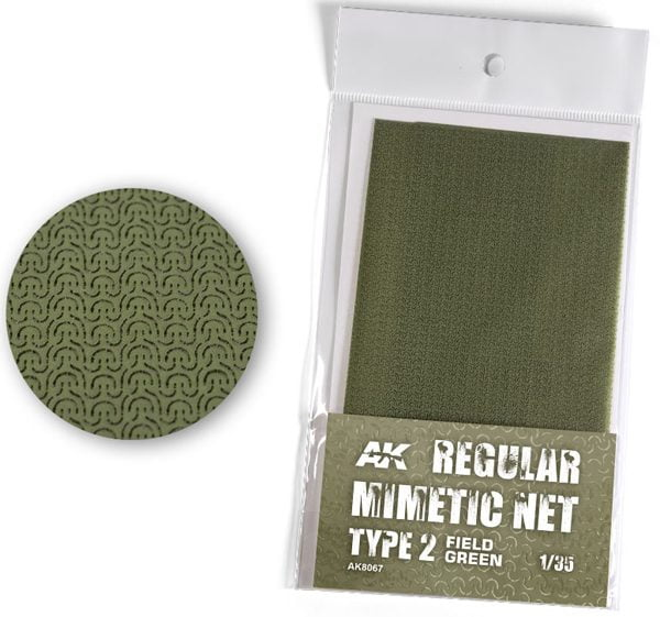 AK Interactive Camouflage Mimetic Net Field Green TYPE 2 AKI 8067