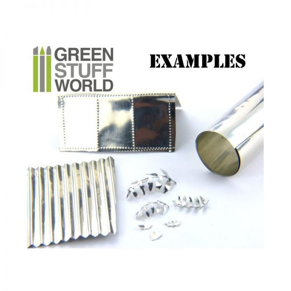 In use Flexible Metal Foil - TIN PEWTER by Green Stuff World GSW 9246