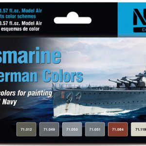 Vallejo Kriegsmarine WWII German Colors Set of 8 71615
