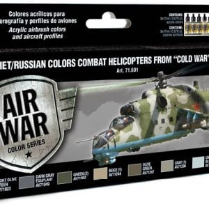Vallejo Soviet Russian Colors Combat Helicopters Post WWII to Present 71601