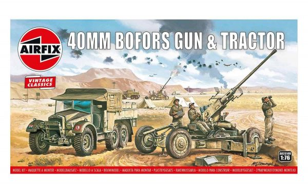 Airfix Bofors 40mm Gun and Tractor 1/76 Scale A02314V