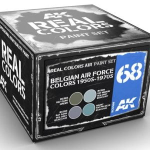 AK Interactive Belgian Air Force Colors 1950s to 1970s Paint Set RCS068