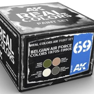 AK Interactive Belgian Air Force Colors 1970s to 1990s Paint Set RCS069