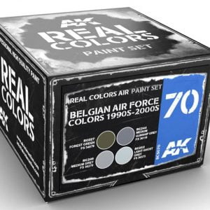 AK Interactive Belgian Air Force Colors 1990s to 2000s Paint Set RCS070