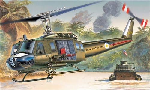 Italeri Bell UH-1D SLICK Iroquios Helicopter 1/72 Scale 1247