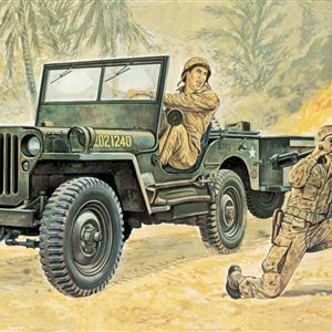 Italeri Willys MB JEEP with Trailer 1/35 Scale 314