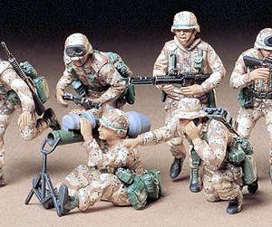 Tamiya Us Modern Figures 'Desert' Kit 1/35 Scale 35153