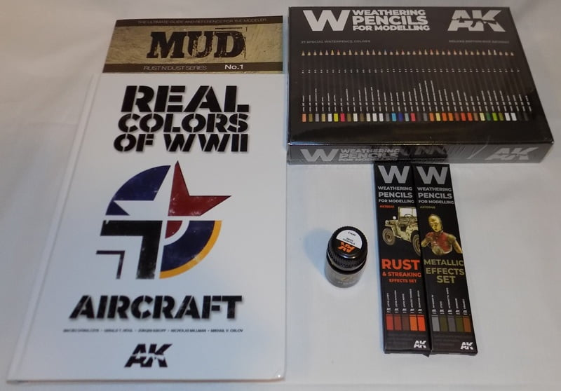 AK Interactive Books Pencils Weathering Re-Stock at Sunward Hobbies