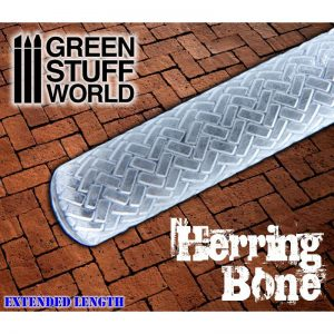 Rolling Pin Herringbone Green Stuff World 1675