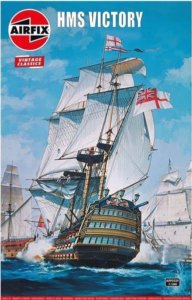 Airfix Vintage Classics HMS Victory 1765 1:180 Scale A09252V