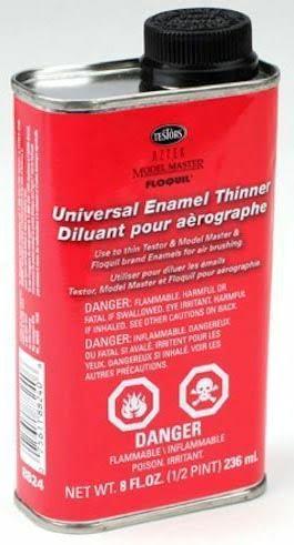Testors Airbrush Enamel Thinner 8oz 236ml TES 8824