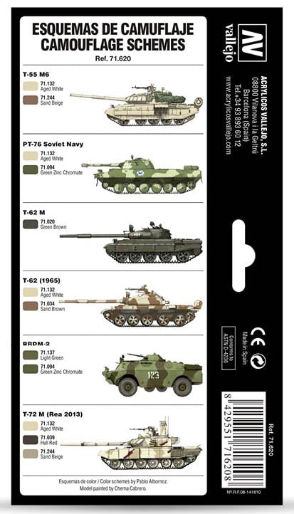 Vallejo Cold War and Modern Russian Desert Patterns paint Set 71620