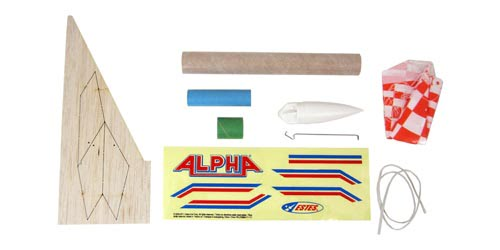 Estes Alpha Model Rocket Kit 1225 parts