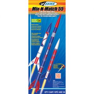 Estes Mix-N-Match 55 Build 3 Model Rocket Kit 2006