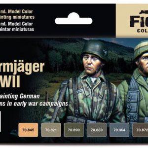 Vallejo German Fallschirmjager Early WW II Paint Set 70185