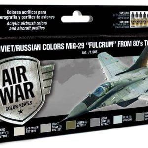 "Vallejo Soviet Russian Colors MiG-29 ""Fulcrum"" from 80's to present 71605"