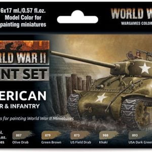 Vallejo WW II American Armour and Infantry Paint Set 70203