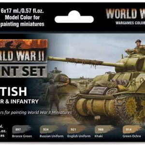 Vallejo WW II British Armour and Infantry Paint Set 70204