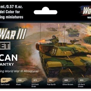 Vallejo WWIII American Armour and Infantry Paint Set 70220