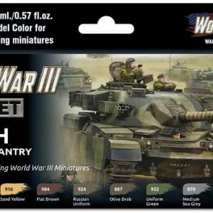 Vallejo WWIII British Armour and Infantry Paint Set 70222