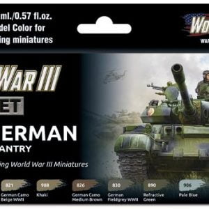 Vallejo WWIII East German Armour and Infantry Paint Set 70224