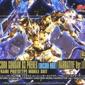 Bandai #227 RX-0 03 Phenex Unicorn Narrative Gold Coating Gundam HGUC 5058087