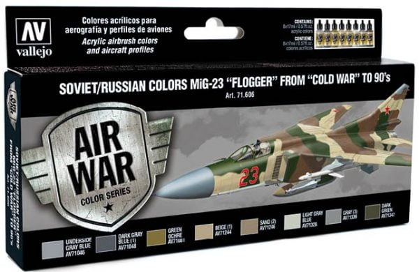 Vallejo Soviet Russian Colors MiG-23 Flogger from 70s to 90s 71606