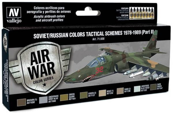 Vallejo Soviet Russian Colors Tactical Schemes 1978-1989 Part II 71608