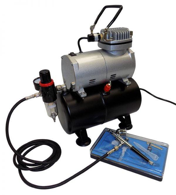 contents Vigiart AS186K Airbrush Compressor Kit