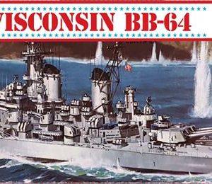 Atlantis USS Wisconsin BB-64 Model Kit 1/535 H463