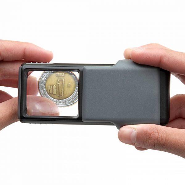 Carson MiniBrite 5X LED Magnifier PO-55 in use