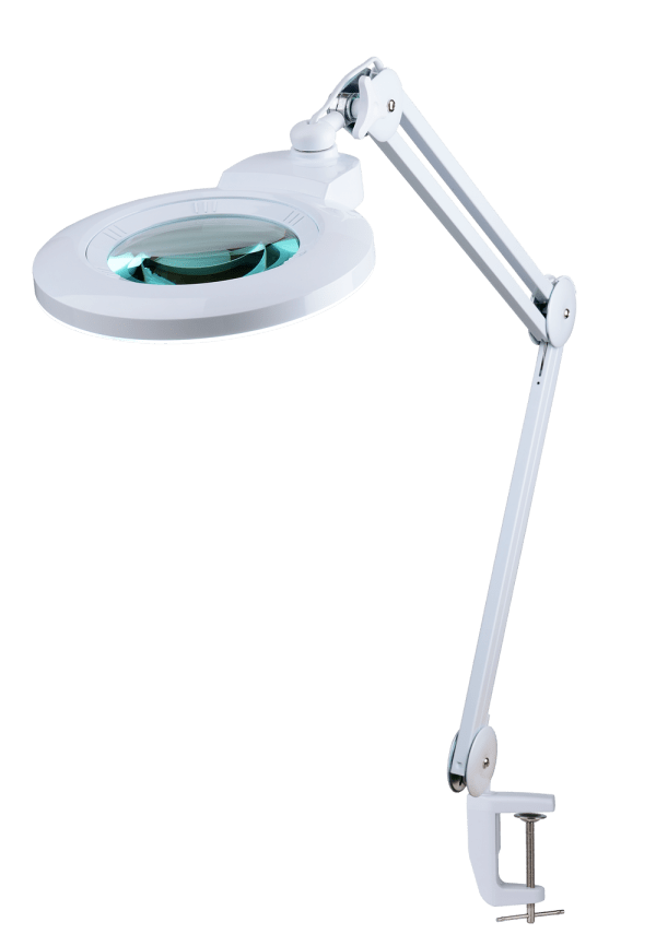 EyePower 5inch LED Table Magnifying Lamp with 3D and 5D Lens 90065