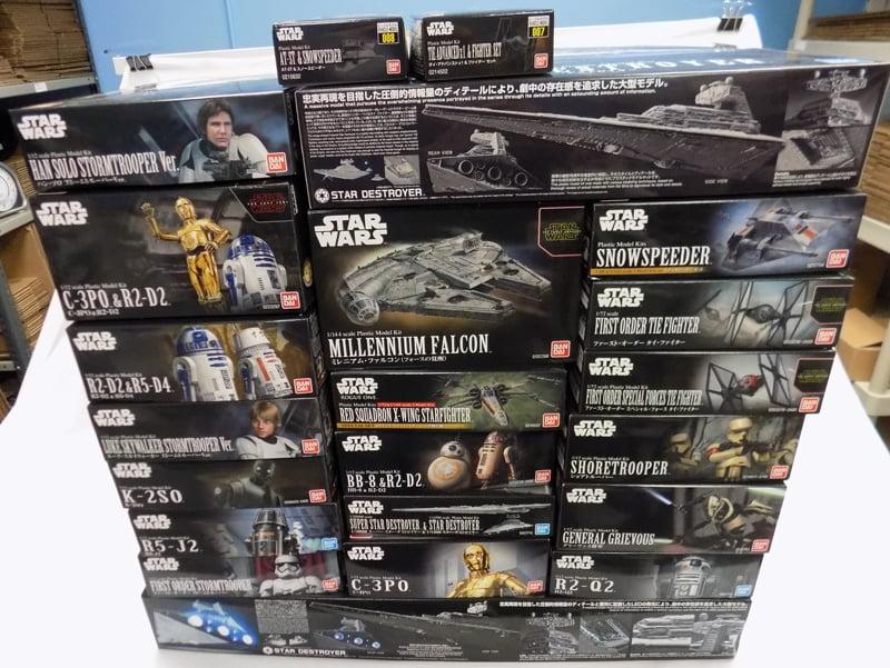 More Bandai Star Wars Model Kits at Sunward Hobbies