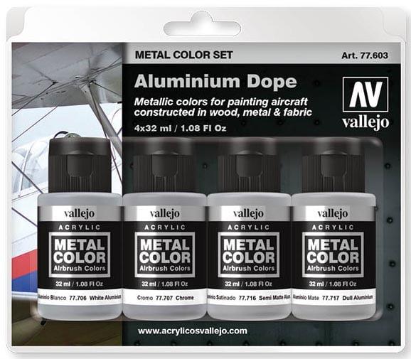 Vallejo Metal Color Set Aluminium Dope 77603