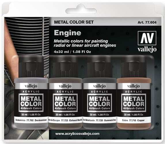 Vallejo Metal Color Set Engine 77604