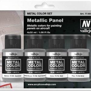 Vallejo Metal Color Set Metallic Panel 77601