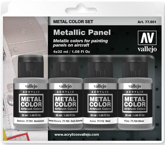 Vallejo Metal Color Set Metallic Panel 77601