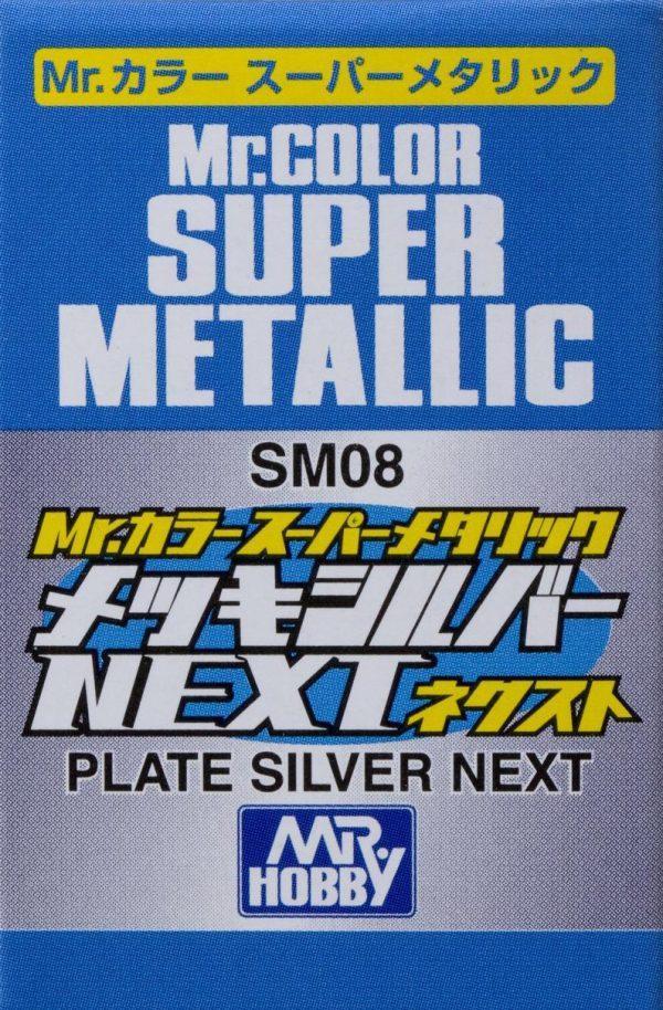 Mr Color Super Metallic Plate Silver Next SM08